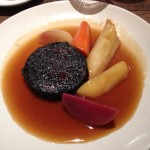 Black pudding, Pot au Feu vegetables
