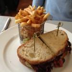 It's a beef sandwich...