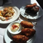 Salt cod fritters, smoked onions, morcilla & chorizo