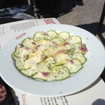 Courgette carpaccio