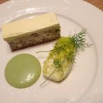 Eel & porkbelly torte