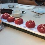 Beetroot meringues